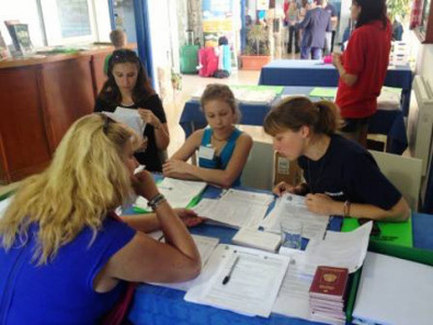 Студенты English Summer Camp S.A. на занятиях