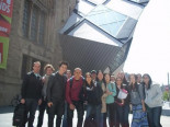 Students at Royal Ontario Museum