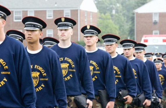 Студенты Valley Forge Military Academy